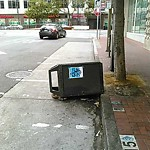 Garbage Containers at Intersection of 11th St & Market St