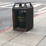Garbage Containers at Intersection of Bush St & Hyde St