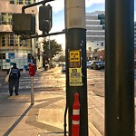 Illegal Postings at Intersection of 4th St & Folsom St