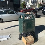 Garbage Containers at Intersection of Folsom St & Tompkins Ave