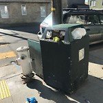 Garbage Containers at Intersection of Banks St & Tompkins Ave