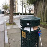 Garbage Containers at Intersection of Cleary Ct & Geary Blvd