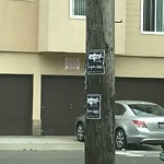Illegal Postings at Intersection of 47th Ave & Judah St
