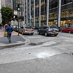 Street or Sidewalk Cleaning at Intersection of Sacramento St & Davis St