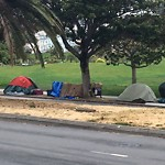 Encampment at Intersection of Dolores St & 19th St