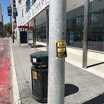 Illegal Postings at Intersection of Folsom St & 3rd St