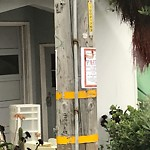Illegal Postings at 735 48TH AVE