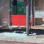 Damaged Public Property at 3388 MISSION ST