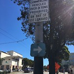 Parking & Traffic Sign Repair at 3099 VAN NESS AVE