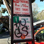 Parking & Traffic Sign Repair at 259 BARTLETT ST