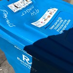 Garbage Containers at Intersection of Eddy St & Mason St