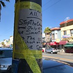 Illegal Postings at 4540 Mission St