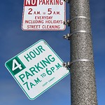 Parking & Traffic Sign Repair at Intersection Of Great Hwy & Point Lobos Ave