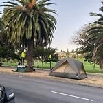 Encampment at Intersection Of 19th St & Dolores St