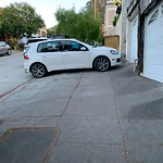 Blocked Driveway & Illegal Parking at 1426 Shotwell St