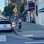 Illegal Postings at Intersection Of 8th Ave & Anza St