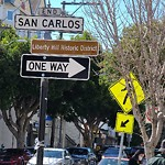 Parking & Traffic Sign Repair at 390 San Carlos St