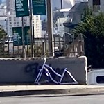 Blocked Pedestrian Walkway at Intersection Of Geary Blvd & Presidio Ave