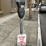 Parking & Traffic Sign Repair at 1378 Sutter St